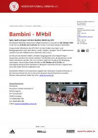 Bambini Mobil des Hessische Fussballverbandes kommt