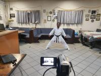 Karate Online  beim TuS Neesbach mit Sunil Wickrematilleke